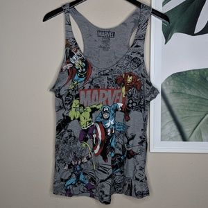 MARVEL Avengers Comics Gray Graphic Tank